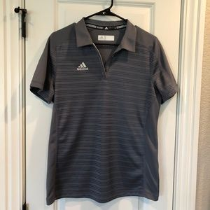 Adidas Climate Lite Grey Polo Size Large